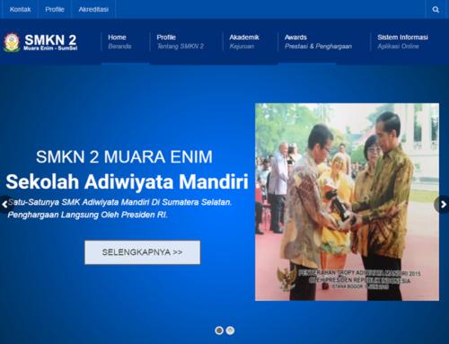 Website Sekolah SMKN 2 Muara Enim Sumatera Selatan