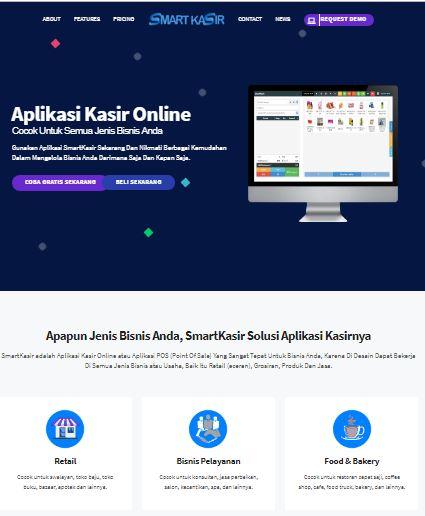 Website Landingpage Layanan Aplikasi Kasir SmartKasir.com