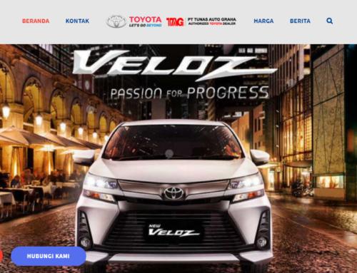 Website Dealer Mobil Toyota Palembang, Sumatera Selatan & Sekitarnya