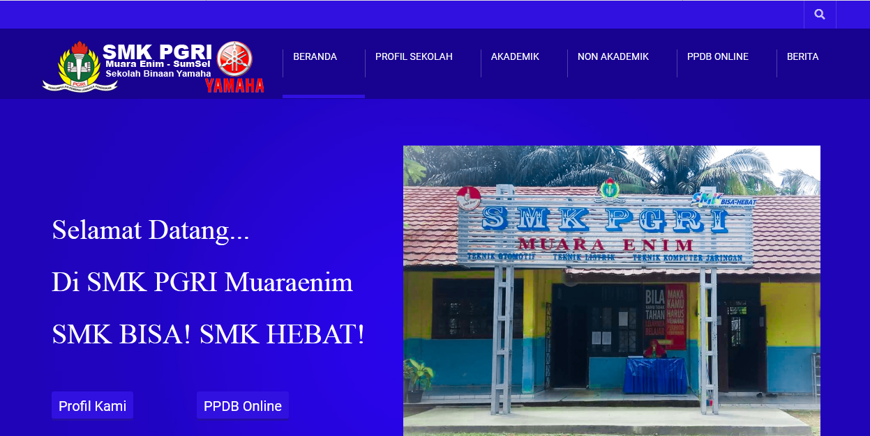 Website Sekolah SMK PGRI Muara Enim Sumatera Selatan