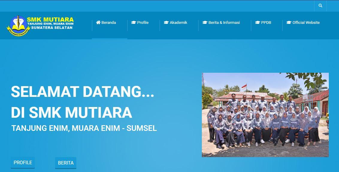 Website Sekolah SMK Mutiara Tanjung Enim, Muara Enim